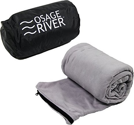 Osage River Microfiber Fleece Zippered Sleeping Bag Liner